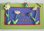 letrero flores